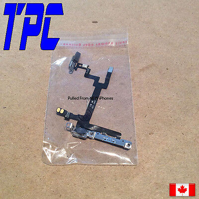 100% Original iPhone 5 5G Power, Volume & Mute Button Flex Cable with Brackets