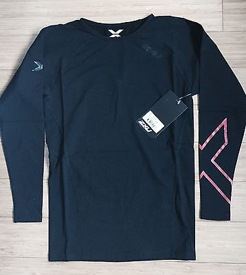 2XU Men's Thermal Compression L/S Top - Black/Red Size M Medium New