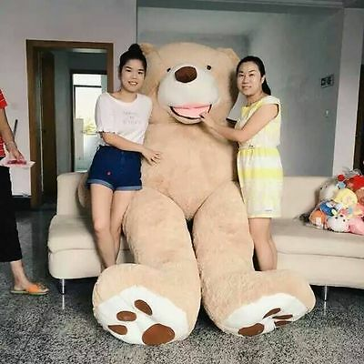 """One pcs 99""""/2.5m HUGE SUPER TEDDY BEAR(ONLY COVER) PLUSH TOY SHELL (WITH ZIPPER)"""