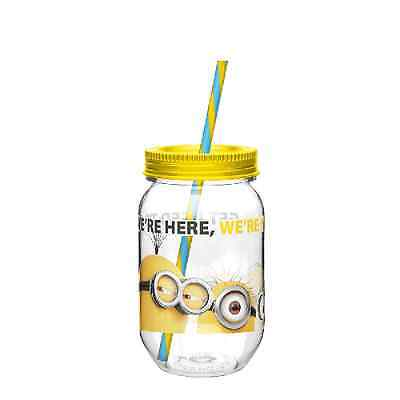 Despicable Me 2 Minion Tritan Canning Jar Tumbler With Straw New Gift Cup