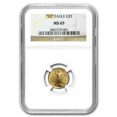 1/10 oz Gold American Eagle MS-69 NGC (Random Year) - SKU #83508