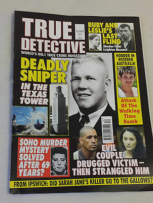TRUE DETECTIVE MAGAZINE December 2015 Issue Crime Murder Police Criminal Justice