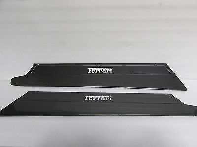 25.5+58.4cm Door Sill Scuff Plates Step Protector Threshold Shield Carbon Fiber
