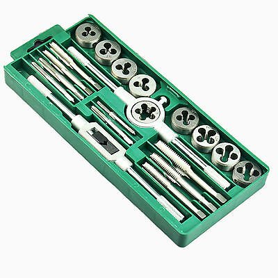 Budget 20 Piece Metric Tap and Die Set Carbon Steel Thread Tool M3 to M12 & Case