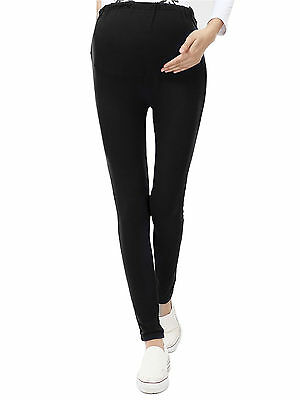 Women Solid Abdominal Pregnant Maternity Pants Eleastic Belly Leggings Trousers