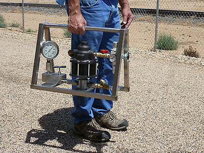 Hydrostatic Test Pump - Portable - Air Operated - High Pressure - 5,000 PSI