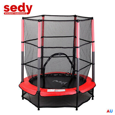 KIDS JUNIOR TRAMPOLINE WITH ENCLOSURE AND SAFETY NET 4.5ft INDOOR / OUTDOOR 5ft