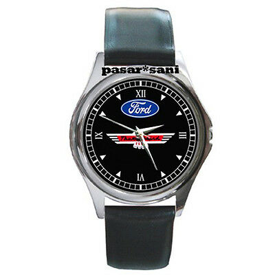 NEW FORD THUNDERBIRD CLASSIC Custom Round Metal Leather Men's Watch Watches