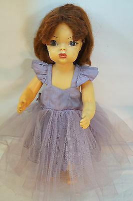 VINTAGE TERRI LEE DOLL MARKED PATENT PENDING TAGGED FORMAL DRESS 1950s 16""