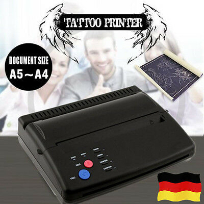 Pro Tattoo Transfer Stencil Machine Paper A5 A4 Thermal Copier Printer Good Use