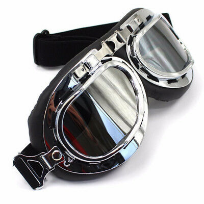 Motorcycle Harley Goggles Open Face Helmets Aviator Flying Style Red Baron