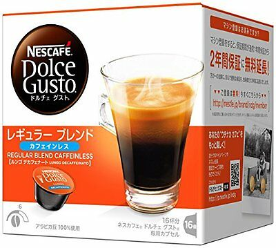 NEW Nescafe Dolce Gusto dedicated capsule regular blend decaffeinated 16 cups