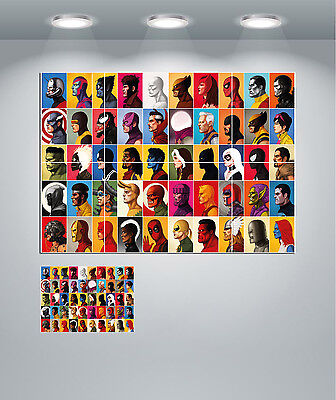 Marvel Super Hero and Villains Giant Wall Art Poster Print
