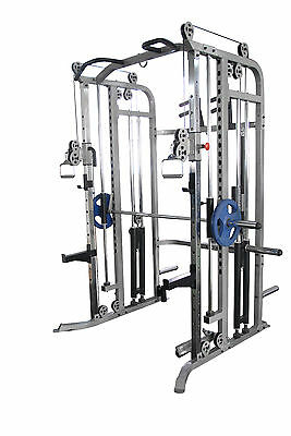 Commercial Power Rack Multi Power Cage Pull Ups Smith Machine Home Gym Crossfit