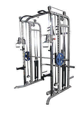 Commercial Power Rack Power Cage Pull Ups Smith Machine Gym Crossfit Training
