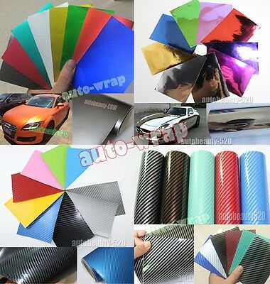 Free Samples - 2D 3D 4D 5D Carbon Fiber Chrome Mirror Matte Vinyl Wrap Sticker