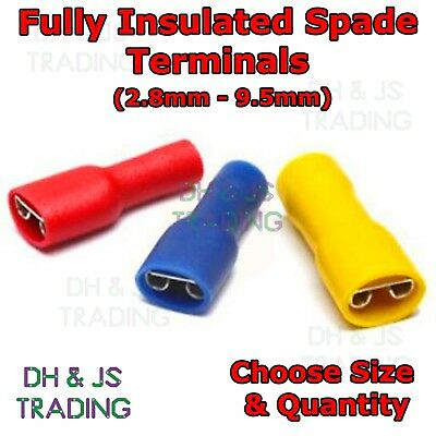 Fully Insulated Female Spade Terminals Crimp Connector Electrical Terminal Wire
