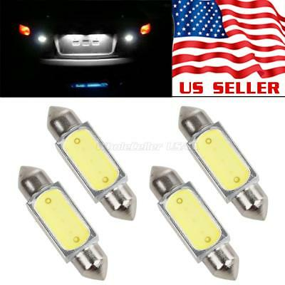 4x White High Power 36mm Festoon LED License Plate Tag Lights Bulbs for KIA