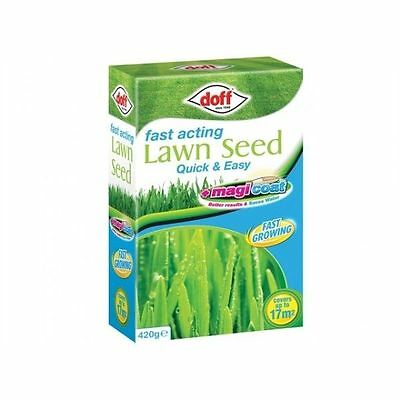 New Pack Doff Fast Acting Grass 'Magicoat' Lawn Seed 420g Grass Seed