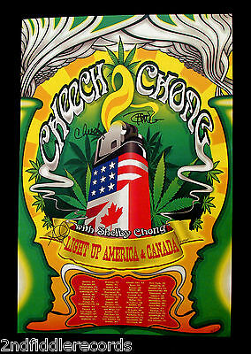 CHEECH & CHONG-Autographed Limited Edition Poster-D. FIGEL-Hippie-Psych-Acid