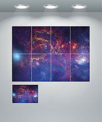Space Nebula Solar System Stars Planets Giant Wall Art Poster Print