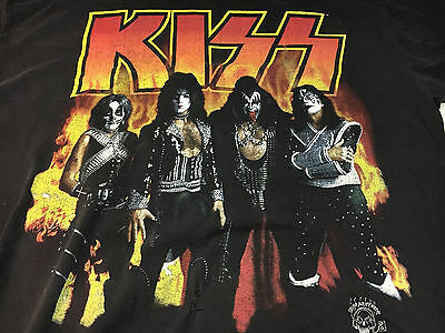 KISS Alive Worldwide Tour 96 97 Concert T-Shirt 1996 Shirt Men's Size Large