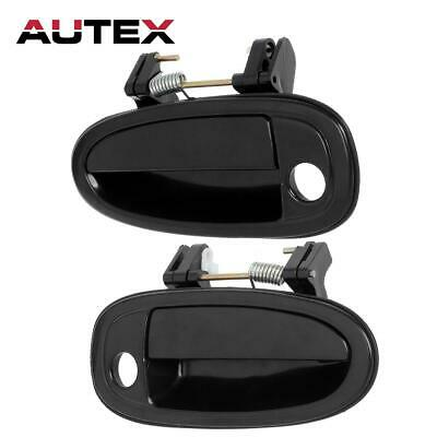 2 For 95-99 TOYOTA AVALON Outer Outside Front Left Right LH RH Door Handle Black