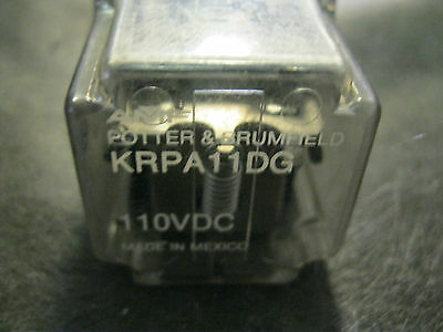 POTTER & BRUMFIELD # KRPA11DG 8 pin PLUG IN RELAY KRPA-11-DG 120-250 VAC