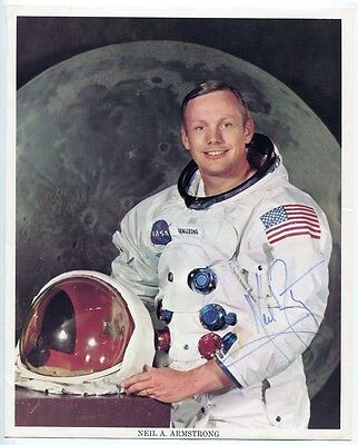 NEIL ARMSTRONG - orig. Autogramm, 20x25cm, NASA, Apollo 11, signed, autograph