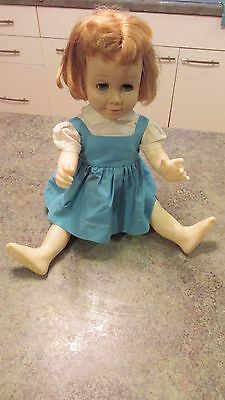 Vintage CHATTY CATHY Original 1960 Blonde Pull String Doll - Mute
