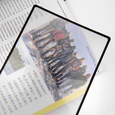 3X PVC Magnifier Sheet 180X120mm Book Page Magnifying Reading Glass Lens BE