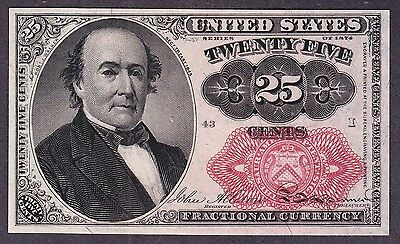 US 25c Fractional Currency 5th Issue FR 1309 Ch CU Pos 43 I