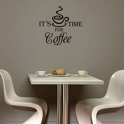 Coffee Wine Kitchen Cafe Bar Wall Art Decal Quote Words Lettering
