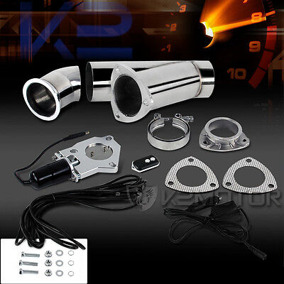 """3"""" 76MM Electric Exhaust Downpipe Testpipe E-Cut Cutout Valve System+Switch"""