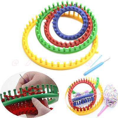 4 Sizes Classical Quality Round Circle Hat Knitter Knifty Knitting Knit Loom Kit