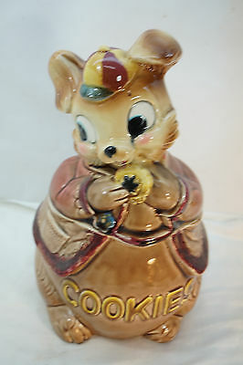 VINTAGE COOKIE JAR ROYAL SEALY JAPAN RABBIT BUNNY WITH BASEBALL CAP 1950s