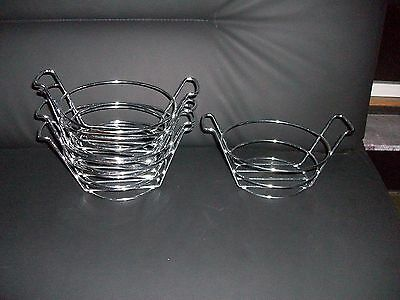 15 French Fry Basket Stand Holder Metal Wire Cone Food Service Restaurant