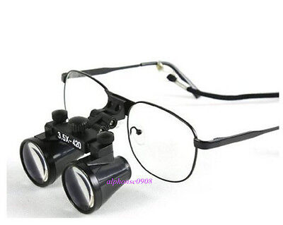 Binocular Loupes Dental Lab Surgical Medical Magnifier 3.5 x 420mm US STOCK