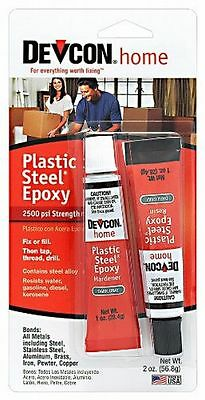 New diy Devcon 52345 S-5 Plastic Steel Epoxy metal repairs water resistant 2 oz.