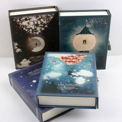 """""""Like A Dream"""" 1pc Luxury Notebook Diary Planner Journal Lock Box Gift Package"""