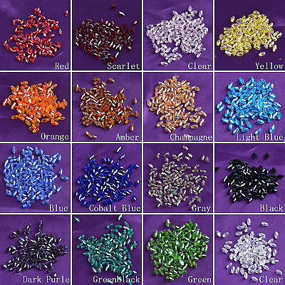 100pcs 5x3mm Crystal Glass Long Bicone Loose Beads Jewellery Making Supplies