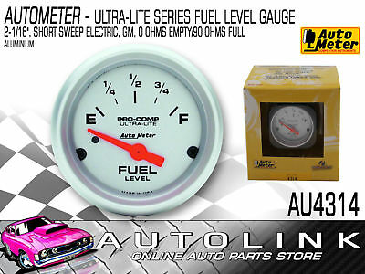 "Autometer Ultra-Lite Series Fuel Level Gauge 2-1/16"" (52.4Mm) Electric"