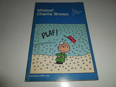 Eo Peanuts Tome 16/ Editions Hrw/ Misere! Charlie Brown