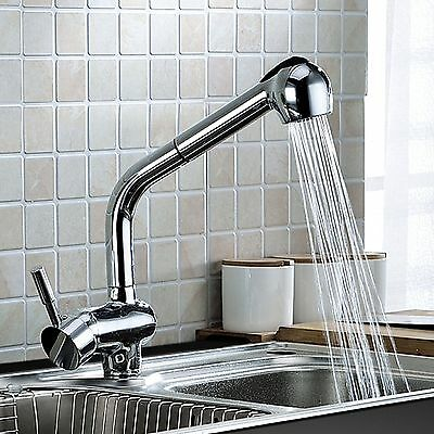 Kitchen Basin Mixer Tap Brass Pull Out Shower Spray Swivel Sink Spout Faucet AU
