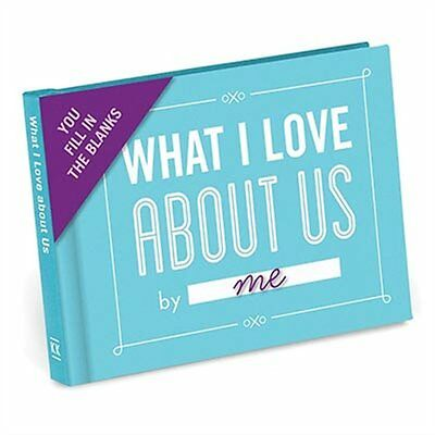 What I Love About Us By Me! Fill in the Blanks Book Valentines Day Gift Idea New