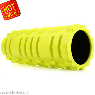 Fitness Floating Point EVA Yoga Foam Roller for Physio Massage Pilates NeonGreen