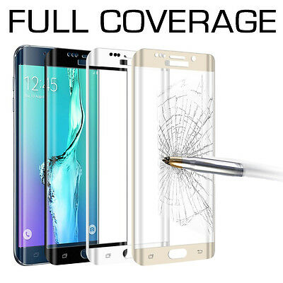 FULL COVERAGE Tempered Glass Screen Protector for Samsung Galaxy S7 S6 Edge Plus