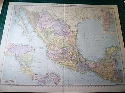 Map From Philip's Atlas 1931 - Mexico & Central America....149-50/31
