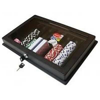 ABS poker chip tray with cover and lock