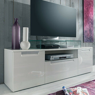 high gloss tv schrank fernsehschrank wei o schwarz eur. Black Bedroom Furniture Sets. Home Design Ideas